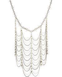 Adia Kibur - Rhinestone Mixed Chain Necklace - Lyst