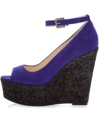 Boutique 9 Christine Sparkle Platform Wedge - Lyst
