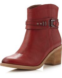Boutique 9 - Clarnella Ankle Boot Dark Red - Lyst