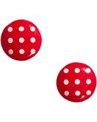 Cath Kidston - Spotty Earrings - Lyst