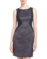 Donna Morgan Denim  Jacquard Colorblock Dress - Lyst
