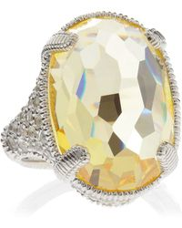 Judith Ripka Glacier Canary Crystal Pave Ring - Lyst
