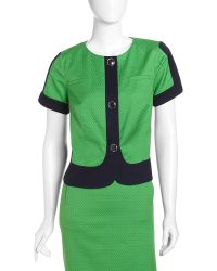 Laundry by Shelli Segal Colorblock Short-Sleeve Jacket - Lyst