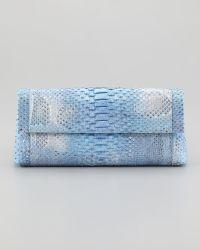 Nancy Gonzalez - Python Backpocket Clutch Bag Blue - Lyst