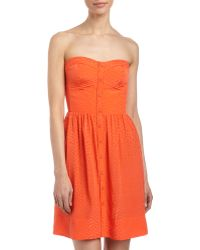 Rebecca Taylor Perfect Fit Jacquard Strapless Dress - Lyst