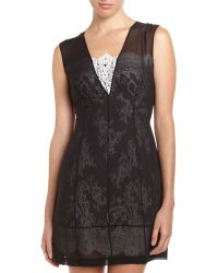 Robert Rodriguez Illusion Lace Dress Black 0 - Lyst