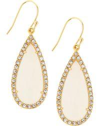 Tai - Moon Glass Crystal Teardrop Earrings - Lyst