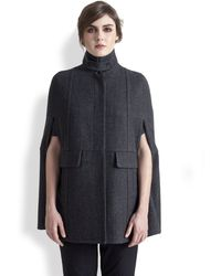 Marni Wool Glencheck Cape - Lyst