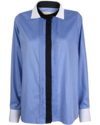 Vanessa Bruno Oxford Pintuck Blouse - Lyst
