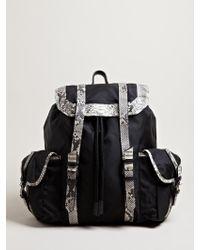 Damir Doma - Mens Bando Python Leather Backpack - Lyst