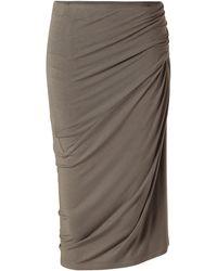 Donna Karan New York Taupaline Draped Jersey Skirt - Lyst