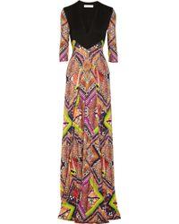 Matthew Williamson Raj Printed Jersey Gown - Lyst