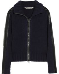 Reed Krakoff - Leather Trimmed Cashmere Cardigan - Lyst