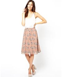 Sugarhill Skirt in Merry Go Print - Lyst