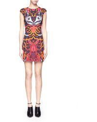 McQ by Alexander McQueen Kaleidoscope Beetle Print Cap Sleeve Dress - Lyst