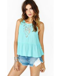 Nasty Gal Spring Lace Tank - Lyst