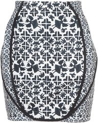 O'2nd - Luca Print Patched Mini Skirt - Lyst