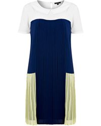 Therapy Pleat Panel Dress - Lyst