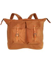 Ally Capellino - Beige Frank Waxed Cotton Backpack - Lyst