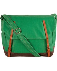 Ally Capellino - Green Delroy Waxed Messenger Bag - Lyst