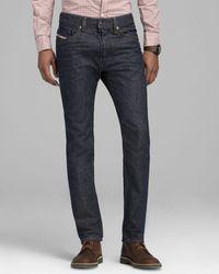 Diesel Jeans Straight Slim Fit in Blue - Lyst