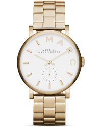 Marc By Marc Jacobs Baker Bracelet Watch 365mm gold - Lyst