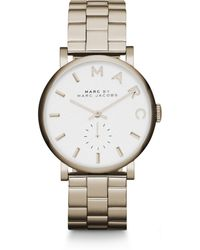 Marc By Marc Jacobs Baker Goldtone Stainless Steel Bracelet Watch gold - Lyst