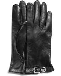 MICHAEL Michael Kors - Logobuckle Leather Gloves - Lyst
