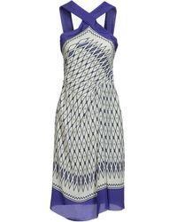 Alberta Ferretti Knee-Length Dress - Lyst