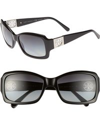 Tory Burch 56Mm Polarized Sunglasses - Lyst