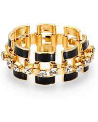 ABS By Allen Schwartz - Enamel and Sparkle Link Bracelet - Lyst