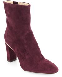 B Brian Atwood Christelle Suede Ankle Boots - Lyst