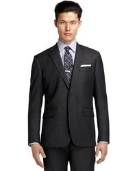 Brooks Brothers Milano Fit Saxxon Bead Stripe Suit - Lyst