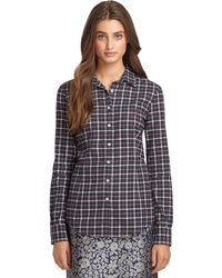 Brooks Brothers Plaid Flannel Shirt - Lyst