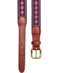 Brooks Brothers - Holiday Fair Isle Needlepoint Belt - Lyst