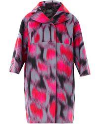 Giles Pink  Neoprene Coat - Lyst