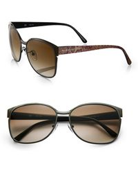 Givenchy Snake Embossed Oversized Square Sunglasses - Lyst