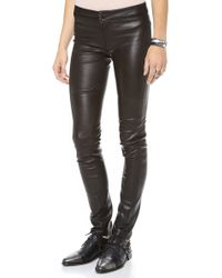 Graham & Spencer Stretch Leather Pants - Lyst