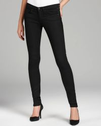 Juicy Couture Skinny Jeans Leather Inset - Lyst