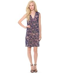 Vera Wang Collection - Floral Sequin Dress - Lyst