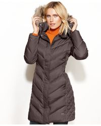 Kenneth Cole Reaction Hooded Faux Fur-trim Quilted Puffer - Lyst