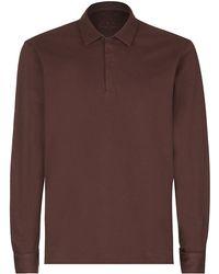 Zegna Sport - Long Sleeve Polo Shirt - Lyst