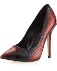 Boutique 9 Justine Glitter Pump Red Snake 7 12 - Lyst