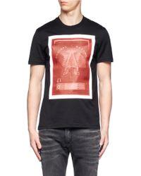 Givenchy Organza-overlay Printed T-shirt - Lyst