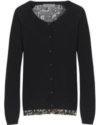 Mulberry Pleated Frill Cardigan - Lyst