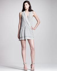 Proenza Schouler Printed Georgette Dropwaist Dress - Lyst