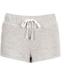 TOPSHOP - Quilted Runner Shorts - Lyst