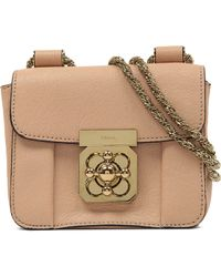 Chloé Elsie Mini Leather Over The Shoulder Handbag - For Women - Lyst