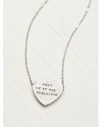 Erica Weiner - Etched Heart Necklace - Lyst