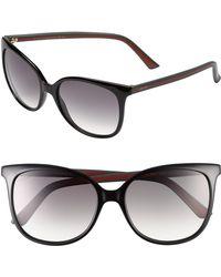 Gucci Black 56mm Sunglasses - Lyst